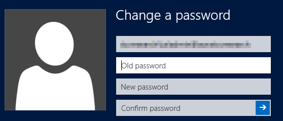 Knowledge of the old Password is needed to change password